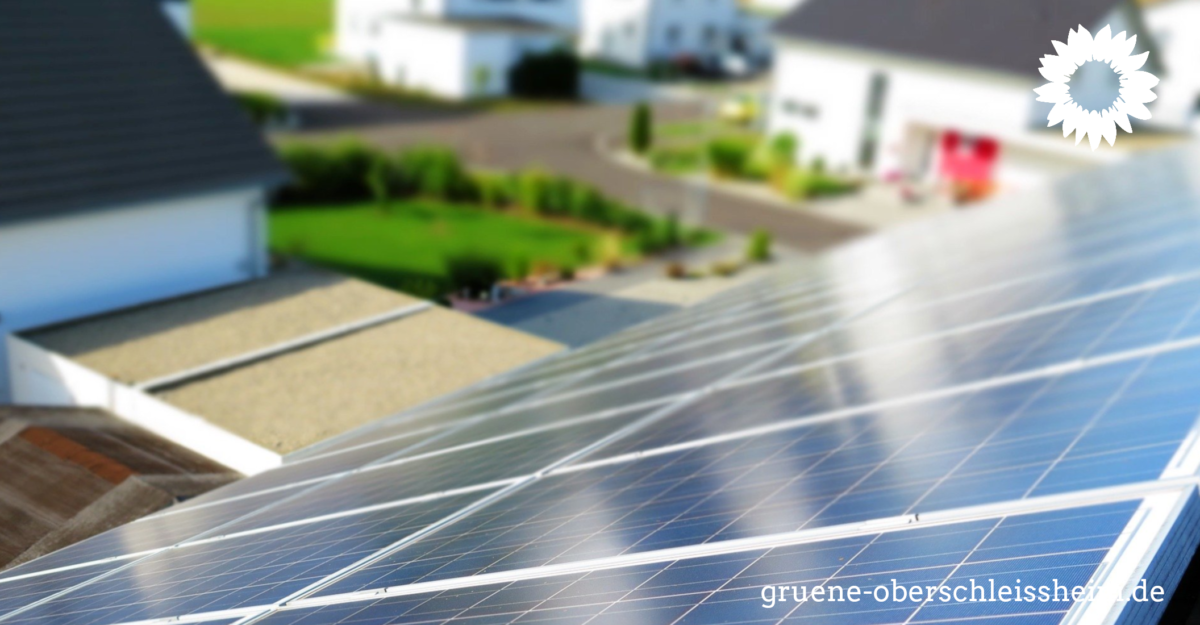 GRÜNE beantragen Bündelausschreibung für private Photovoltaikanlagen
