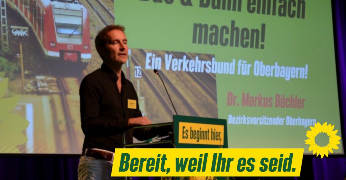 Dr. Markus Büchler ist zwei weitere Jahre Bezirksvorsitzender der Grünen in Oberbayern